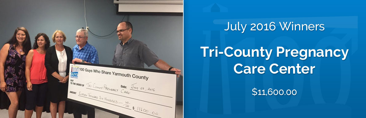 July 2016 Winners - Tri-County Pregnancy Care Center