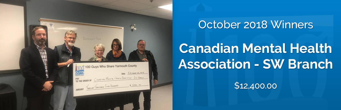 October 2018 Winners - Canadian Mental HealthAssociation - SW Branch