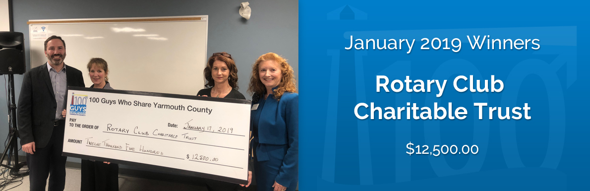 January 2019 Winners - Rotary Club Charitable Trust